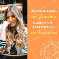 Venha iluminar os fios nesse mês de Janeiro e ganhe um tratamento incrível em Fevereiro! #cabelo #ahazou #promoçao #janeiro