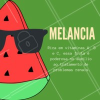 Fique de olho nos benefícios dessa fruta! 🍉 #melancia #frutas #beneficios #ahazou #saude #bemestar