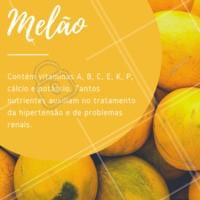 Fique de olho nos benefícios dessa fruta! 🍈 #melao #frutas #beneficios #ahazou #saude #bemestar