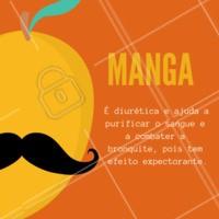 Fique de olho nos benefícios dessa fruta! 🍋 #manga #frutas #beneficios #ahazou #saude #bemestar