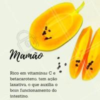 Fique de olho nos benefícios dessa fruta! #mamao #frutas #beneficios #ahazou #saude #bemestar