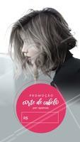 Aproveite essa promoção e agende seu horário! #cabelo #beleza #corte #ahazou