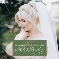 Nós temos os melhores profissionais para deixar você linda neste dia tão especial. Agende já seu horário! #maquiagem #make #noivas #ahazou #beleza