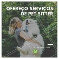 Não sabe com quem deixar seu pet? Eu cuido dele, com MUITO amor! 🐶🐱❤️️ Entre em contato para maiores informações XXXXXX #pet #petsitter #nanny #ahazoupet #ferias