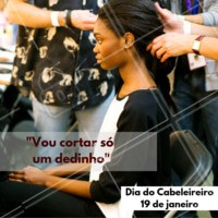 Parabéns à todos os cabeleireiros desse mundão! 💇❤️️ #cabeleireiro #frases #ahazou #parabens