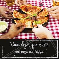 """""""E coisas que só entendi quando te conheci..."""""""" 😍😍  Aquela paixão chamada pizza!  #pizza #ahazou #pizzaria"""