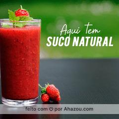 Feito com 100% da fruta! É uma delícia só! Confira nossos sabores > XXXXXX #saudavel #ahazou #suconatural #fitness