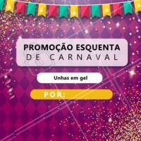 O carnaval tá chegando e não podíamos deixar de fazer uma promoção para você aproveitar esse feriado da melhor forma 🎭 Agende já o seu horário! #carnaval #promocao #esquenta #ahazoumanicure
