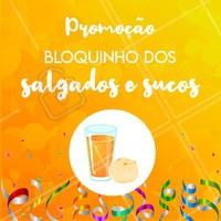 Que tal esse Esquenta de Carnaval? Aproveite a promoção e venha pro nosso bloquinho! 🥐 #lanchonete #ahazou #salgados #carnaval #sucos