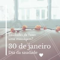 Faz tempo que você não faz uma massagem? Aproveite o dia da saudade e venha matar a saudade! #massagem #diadasaudade #ahazou