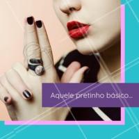 Aquele esmalte preto que não pode faltar de jeito nenhum! Hahah #pretinhobásico #esmaltes #ahazou