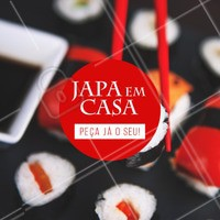Bateu a fome? Peça já o seu japa 🍱 #comidajaponesa #ahazou #delivery