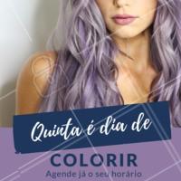Quinta é dia de mudar a cabeleira! Quer entrar pro time das coloridas? Vem com a gente! Agende já o seu horário e venha ser atendidas por especialistas em cor. #quintou #coloridoperfeito #cabeloscoloridos #ahazou