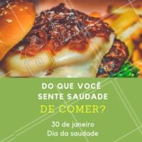 Conta pra gente qual prato você tá sentindo aquela saaaaudade de comer MUITO! #gastronomia #comida #ahazou #diadasaudade #gordice
