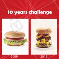 Quem amou essa mudança também? 🍔 #hamburguer #loucosporburger #ahazou #hamburgueria #10yearschallenge  Não conhece esse Meme que está bombando? Nós te explicamos: https://ahazou.com/10-year-challenge-entenda-o-desafio-2009-2019/