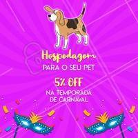 Não perca essa promoção de carnaval e entre em contato para agendar a estadia do seu peludo! 🐶🐱♥️ #promocao #pet #ahazoupet #hospedagempet #estadia #carnaval #viagens