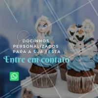 Precisando de docinhos personalizados para a sua festa? Entre em contato para maiores informações! #doces #confeitaria #ahazou #festa #evento #encomendas