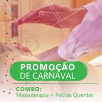 Carnaval chegando e temos promoção SIM! Aproveite esse combo e venha se cuidar ♥️ #massoterapia #terapias #ahazou #promocao #carnaval