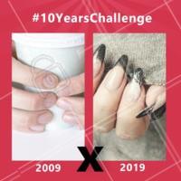 Nem precisa de 10 anos para uma transformação dessa! É só agendar seu horário e realizar seu alongamento de unhas 💅❤️️ #unha #ahazou #manicure #meme