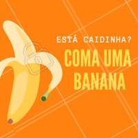 A banana possui 594mg de potássio, aumentando a energia e o estado de alerta em 20% por até duas horas! O potássio estimula os músculos, os nervos e as células do cérebro a funcionarem no maior pique. #bemestar #dicas #ahazou