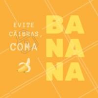 A banana é uma fruta rica em potássio e por isso ajuda a evitar aquelas cãibras que a gente tanto detesta! #dicas #banana #bemestar #ahazou