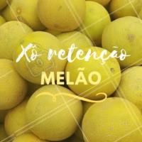 Previna-se do inchaço corporal, invista no melão! O melão está entre as frutas com maior teor de água e é conhecido por suas propriedades diuréticas. #dicas #frutas #ahazousaude #melão #xôinchaço