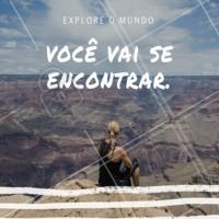 E você? Já começou a explorar o mundo?  #frase #inspiraçao #motivacional #ahazou