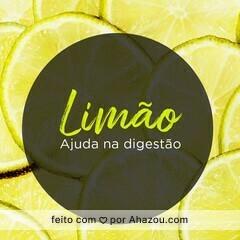 O limão é rico em vitamina C, mas o que muita gente não sabe é que é uma fruta que ajuda na digestão e tem muitas outras propriedades. #ahazou #dicas #limão #saúde