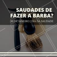Bateu aquela saudade? Agende seu horário e vem matar essa saudade logo! #barbearia #ahazou #barba #diadasaudade