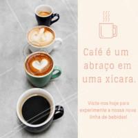 Venha conhecer a nossa nova linha de bebidas. #ahazou #cafe #cafeteria #amocafe