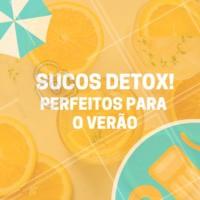Temos as mais saborosas opções para esse verão! Venha experimentar #verão #ahazoutaste #saudável #sucodetox