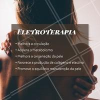 A eletroterapia é um tratamento estético que consiste no uso de aparelhos que utilizam estímulos elétricos de baixa intensidade.Olha só os benefícios! #eletroterapia #ahazou #esteticacorporal