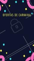 Confira as nossas ofertas exclusivas para o carnaval. #carnaval #ahazou #oferta