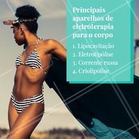 Esses são os principais tratamentos que usam a eletroterapia para tratar diversos problemas, como gordura localizada, celulite, estrias e etc. #tratamento #ahazou #esteticafacial