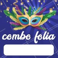 Abram alas que o combo chegoooou! #carnaval #ahazou #promocao #abramalasgalera