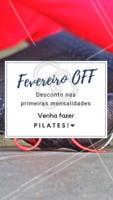 Aproveite nossos descontos SÓ nesse mês e venha desfrutar de todos os benefícios que o pilates oferece! #pilates #fisio #ahazoufisio #promocao #fevereiro
