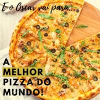 Em clima de Oscar, nossa pizza ganha como a melhor do mundo! #pizzaria #pizza #ahazou #oscar