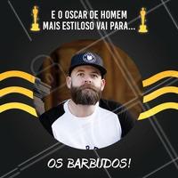 Não podia ter outro ganhador desse prêmio, né? 😏😎 #barbearia #ahazou #barba #oscar