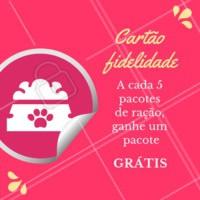 Aproveite e venha fazer o seu cartão fidelidade, serão inúmeros benefícios! #petshop #ahazoupet #cartaofidelidade