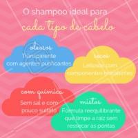 Dica: Usar o shampoo ideal para o seu tipo de cabelo também é essencial para garantir a saúde dos fios. #shampoo #cabelo #ahazou #cronogramacapilar #dicacapilar