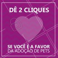 Você também tem aquele amor incondicional pela adoção? 😍 #ahazoupet #pet #muitoamor #adote
