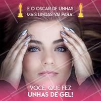E o Oscar vai para você, que agendou o seu horário e está com as unhas impecáveis! 👏 #unhas #unhasdegel #ahazou #manicure #oscar