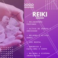 Já conhece os benefícios do reiki? Agende sua sessão experimental e sinta a energia! ✨ #reiki #terapias #ahazousaude #saude #bemestar