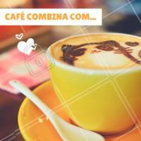 Para você, café combina com o quê? #café #loucosporcafé #ahazou