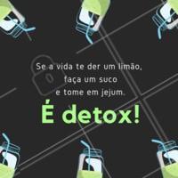 Aproveita, amiga! Hahaha #detox #ahazou #limoes #limonada