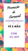 Pé e mão com 5% OFF só no Carnaval! ❤️️✨ #promocao #ahazou #carnaval #manicure #pedicure #unhas