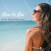Dica do dia: use e abuse do protetor solar. Ele ajuda a combater o câncer de pele, além de evitar a insolação, queimaduras, manchas, envelhecimento precoce, flacidez, lesões, entre outras complicações  #dicas #protetorsolar #ahazou #esteticafacial #rosto