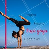 Yoga é ótimo para melhorar o bem-estar e acabar com o estresse do dia a dia. Venha fazer uma aula experimental!❤️️ #yoga #ahazousaude #saude #bemestar #amorporyoga