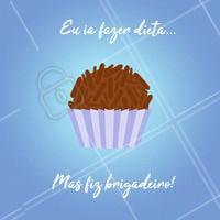 É difícil resistir, né? 😂 #doces #brigadeiro #ahazou