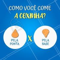 Dilemas da vida! Hahaha 😝 Conta pra gente de qual time você é! #coxinha #ahazou #enquete